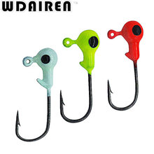 WDAIREN 10Pcs/lot Winter Ice Fishing Hook Lure 2cm/1.1g Mini Metal Bait Fish Lead Head Hook Bait Jigging Fishing Tackle WD-221