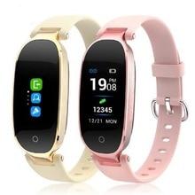 цены на Smart Band S3P Female Smart Wristband Heart Rate Fitness smart Bracelet Ladies Women Watch Mp4 Pk xiaomi mi band 4 Pk mi band 3  в интернет-магазинах