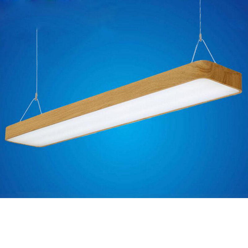 US $108 1 54% OFF|Round led office lights hanging line lights office wood  bar lights office ceiling lighting fixture led home fixture hanging led-in