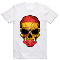 Plus size,M~5XL,Men's Spain Style 3D Skull Printed T-shirts Bullfighting T shirt Male Spain Tee Shirt camisetas Hombre De Marca