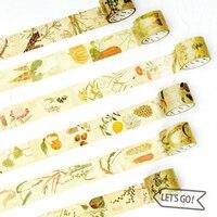 12 stks/partij Vegetab fruit plant papier afplakband Japanse washi tapes set 3 cm * 5 m stickers Kawaii School levert papeleria 7161