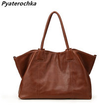 Pyaterochka Ladies Luxury Handbags Cheap Women Bags 2018 Famous Brand Genuine Leather High Quality Shoulder Composite Bag BaoBao(China)