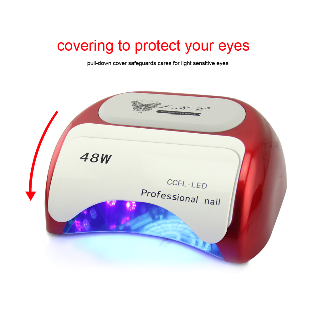 48W CCFL Nail Dryer Polish Machine UV Lamp LED Lamp Nail Lamp for ...