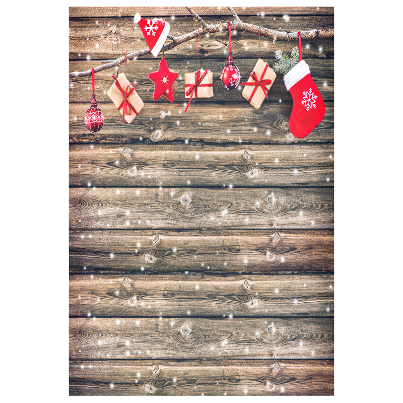 5X7FT 150X210CM Vinyl Christmas theme picture cloth photography background studio props Wooden floor tree branches gift Ch 5x7ft 150x210cm vinyl christmas theme picture cloth custom photography background studio props wooden floor christmas socks gi