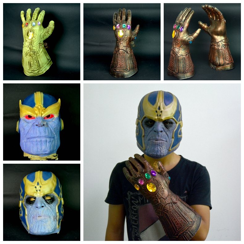 Avengers 3 Infinity War Thanos Infinity Gauntlet Mask Cosplay The Prop Fun Toys