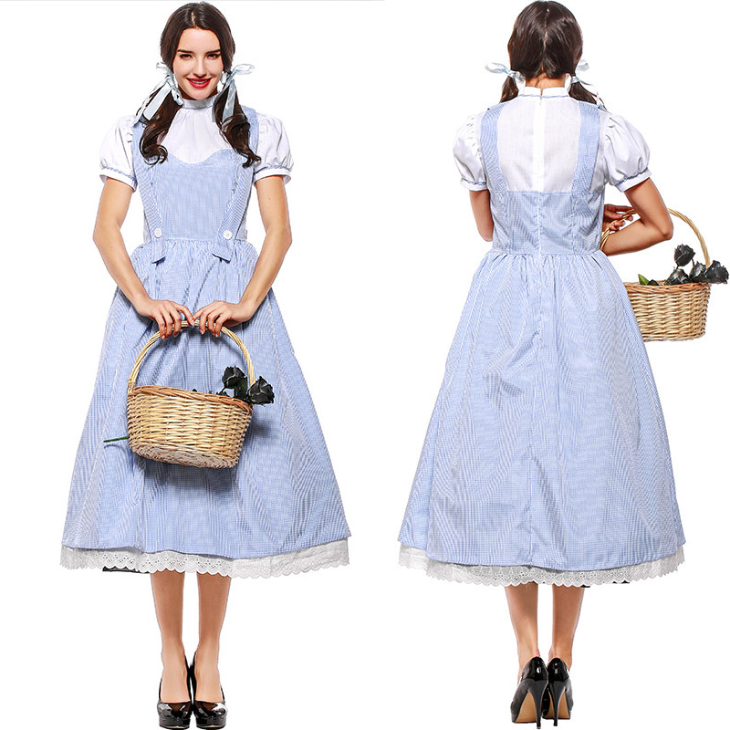 Fête d'halloween femmes adultes français robe Lolita robe victorienne serveuse Costume