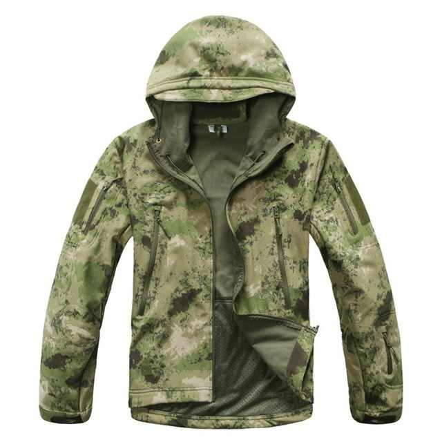 Chaqueta de marca V5.0 militar táctica hombres chaqueta Lurker tiburón piel suave Shell impermeable a prueba de viento hombres ejército polar chaqueta abrigo