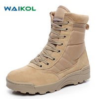2016 Winter Army Boots Mens Military Desert Boot Shoes Men Autumn Breathable Snow Ankle Boots Botas