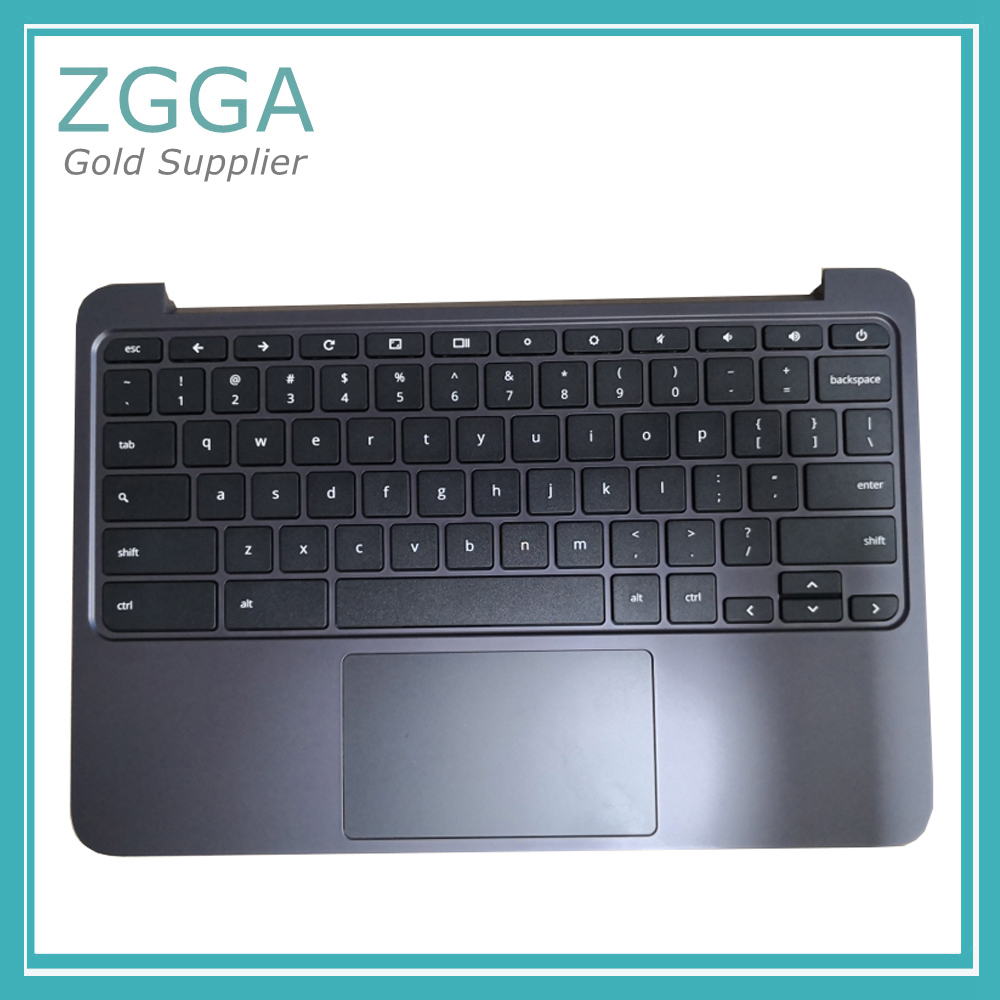 Ori NEW For HP Chromebook 11 G5 Laptop Palmrest Cover Keyboard Shell Upper Case With Touchpad Black 917442-001 Silver 855623-001 a top cover upper case with backlit keyboard for hp 15 ax102tx 859735 001 black