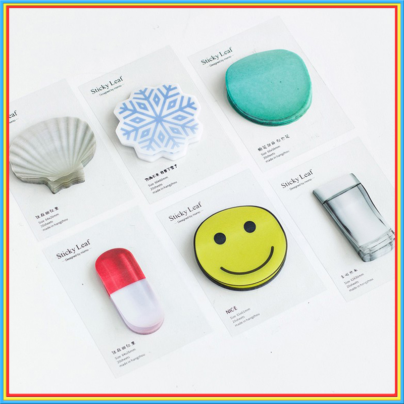 6pcs/lot Kawaii Transparent sulphate paper memo pad cute Sticky Post It notes School Supplies Planner Stickers Bookmarks 01921
