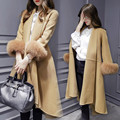 Осень Зимнее Пальто Женщин Плюс Размер Шерсти Пальто Манто Длинные Femme Шерстяное Пальто С Меховой Верхней Одежды Casaco Feminino Куртка Женская C2666
