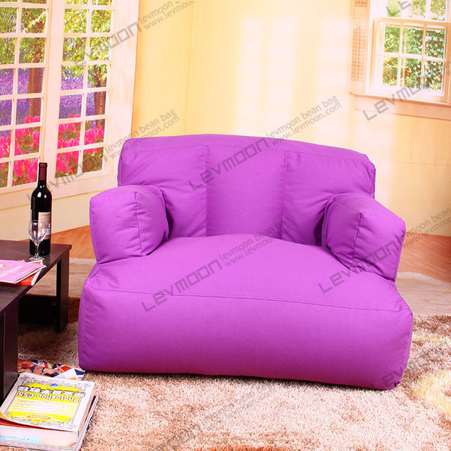 FREE SHIPPING striped giant bean bag chairs 100% cotton canvas ...