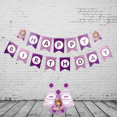 happy birthday letter birthday garland decoration children baby birthday party flag pull live room layout supplies in pendant drop ornaments from home