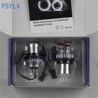 FSYLX 10W 6000K led Angel Eyes for bmw e60 LED Marker Lights Halo Rings for BMW E39 E53 E65 E66 E60 E61 E63 E64 E87 car styling