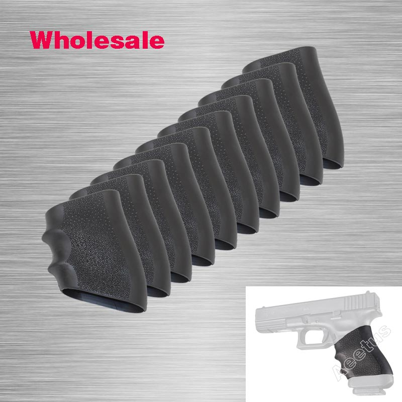 Wholesale New Rubber Grip Sleeve Full Size Grip Sleeve Anti Slip Fits Glock, S&W, Sigma, ...