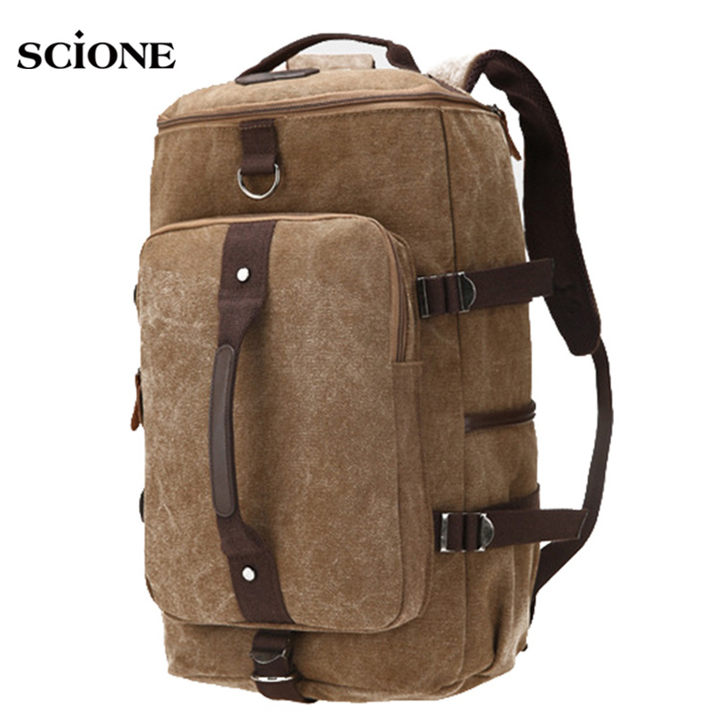 Multifunctional Outdoor Canvas Sports Backpack Shoulder Messenger Bag Handbag Women Men Gym Fitness Bags Travel Duffel XA1457A stylish pu leather plastic flip open case for iphone 5c green