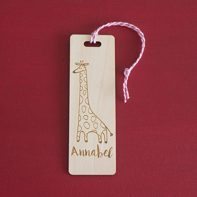 6pcs Custom Wood Cute Giraffe Wooden Bookmark Book Lover Gift Wedding Birthday Party Return Gifts 2018 New