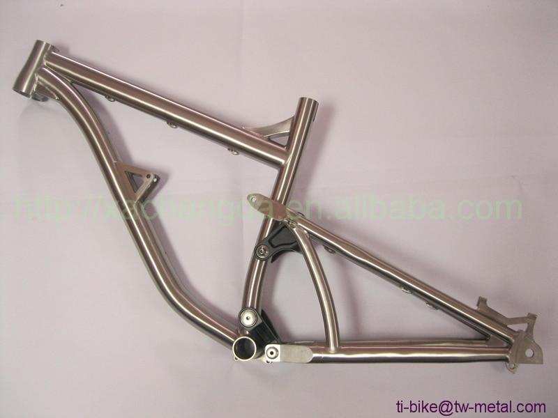 Bike-Frame Mouth-Brake Titanium-Suspension Custom with Taper-Head-Tube Post China