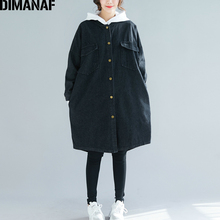 DIMANAF Plus Size Women Jackets Long Sleeve Loose Outerwear Basic Coats Demin Casual Autumn Winter 2019 Cardigan Female Clothing various lippincott s magazine october 1885