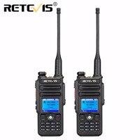 2pcs Retevis RT82 Digital Walkie Talkie Dual Band DMR VHF UHF GPS 5W 3000CH IP67 Waterproof