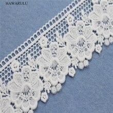 HAWARULU 2yard DIY White lace fabric milk curtains accessories strips wedding decoration