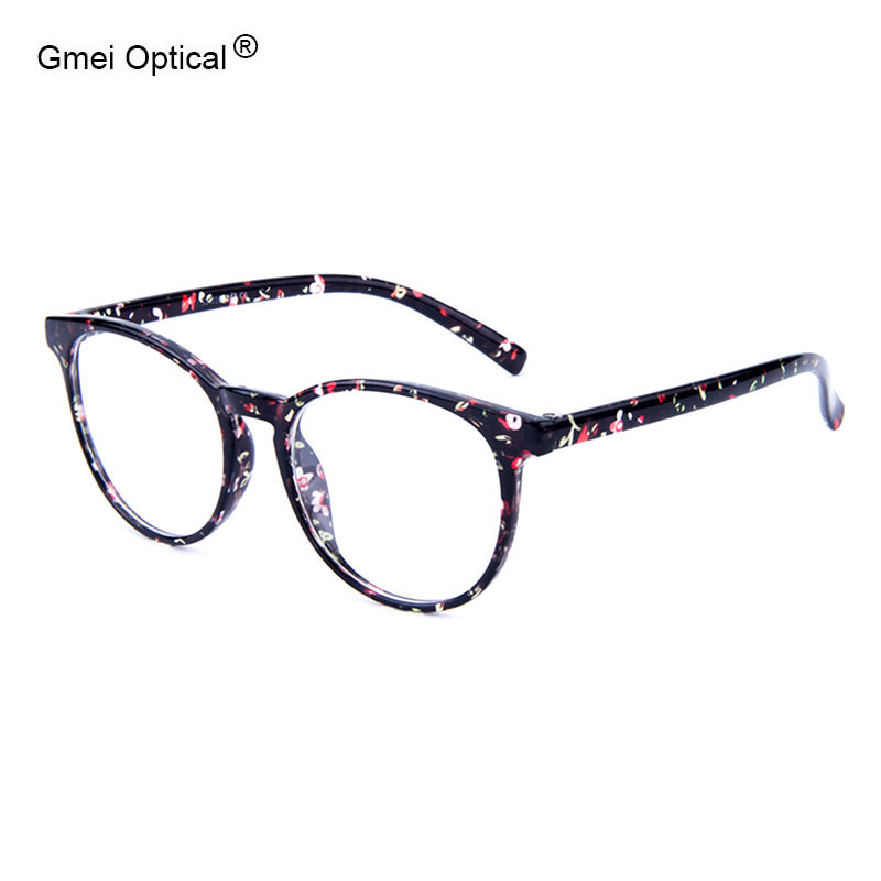 newest vogue urltra light red floral round optical frame stylish spectacles for womens prescription eyeglasses
