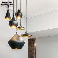 England Tom Dixon vintage pendant lighting Aluminum Simple hanging lights bedroom Musical Instrument Cord Pendant Light