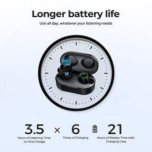 Image 4 - Mpow écouteurs Bluetooth T6 5.0 TWS, écouteurs sans fil, Mini oreillettes, IPX7, étanche avec 21 H, contrôle tactile