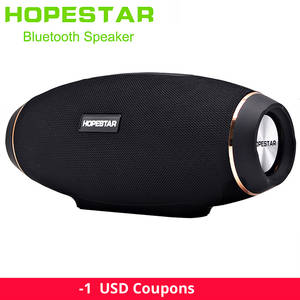 Subwoofer Power-Bank Usb Aux Hopestar H20 Waterproof Outdoor Portable Bluetooth Wireless