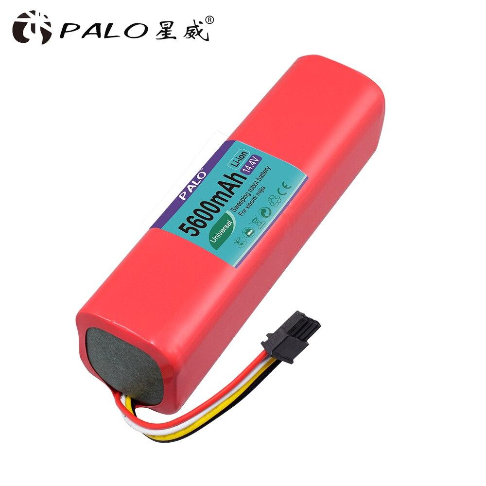PALO batterie li-ion pour Xiaomi robot roborock S50 S51 Batterie 14.4 V 5600 mAh robot aspirateur accessoires pièces