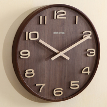 Not Reflective Simple Design Bamboo Wall Clock