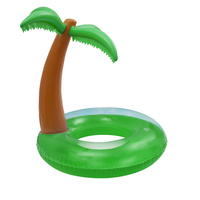 120cm Giant Palm Tree Inflatable Swimming Ring Swim Circle Tube Adult Kids Floating Island Water Beach Fun Pool Toy boia piscina