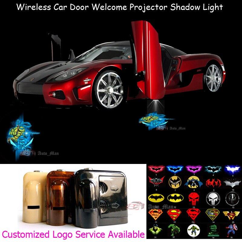 2х Черепашки-ниндзя черепашки-ниндзя логотип беспроводной двери автомобиля Добро пожаловать предоставлено лазерный проектор Призрак тень лужа свет СИД