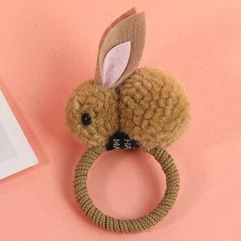 New Cute  Animals Rabbit  Style Hair Bands Felt Three-Dimensional Plush Rabbit Ears Headband For Children Girls Hair Accessories 3