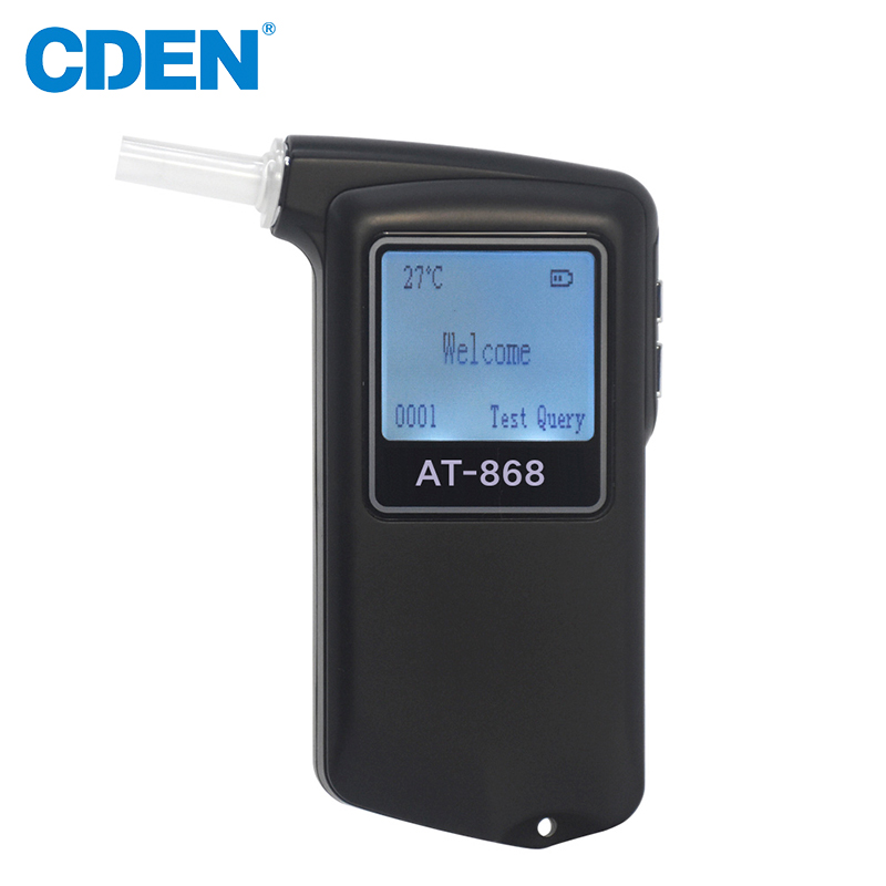 Portable Digital Breath Alcohol Tester Professional Police Breathalyzer Analyzer Detector LCD Dispaly Mouthpieces Alcohol Tester