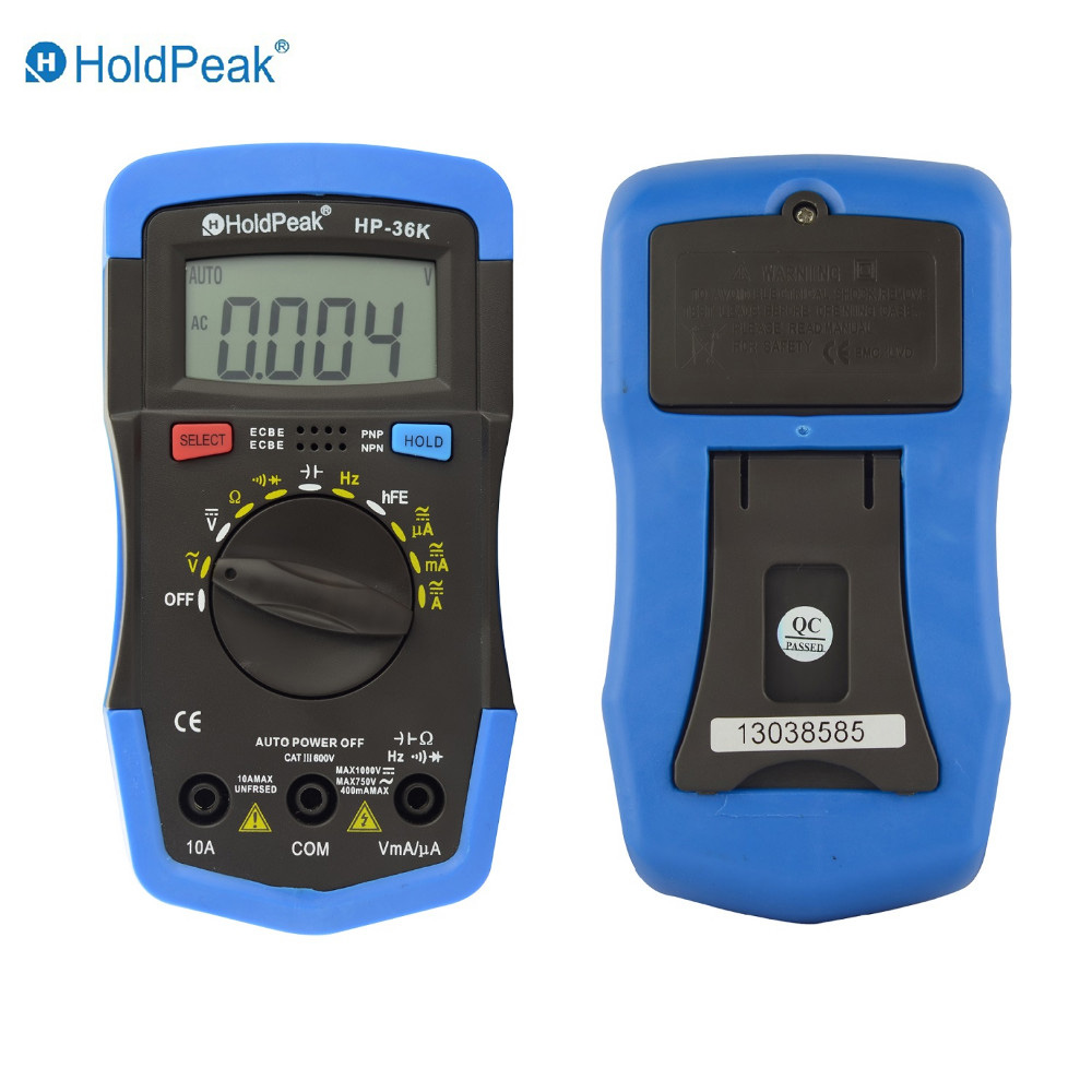 Mini Multimeter Multimetro HoldPeak HP-36K AD/DC Auto Range Digital Multimeter Meter/ Portable Digital Multimeter hp 90b hp90b auto range digital multimeter digital avo meter