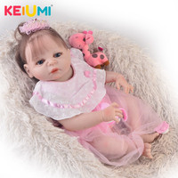 Princess 23' 57 cm Bebe Reborn Baby Girl Full Silicone Body Reborn Dolls Realistic Kids Playmates Baby Toys Girl Birthday Gifts