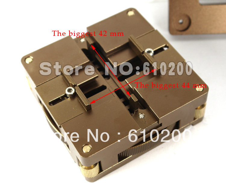 ФОТО Multifunction New Brown High quality Aluminum alloy Material BGA Reballing Station Rotary positioning for 90mm*90mm 80mm*80mm