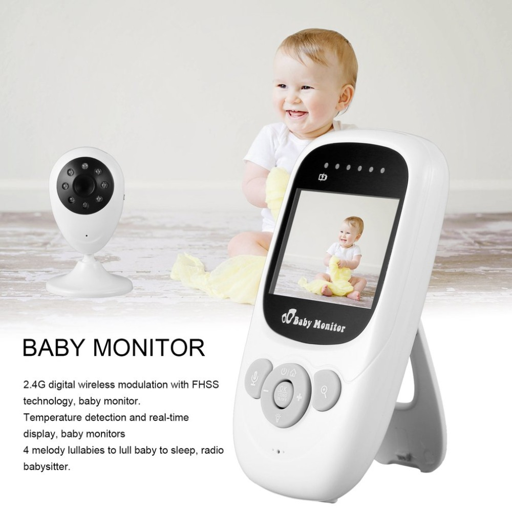 2.0 Inch 2.4GHz Wireless Video Color Baby Monitor 2 Way HD Baby Nanny Security Camera IR Night Vision Temperature Monitoring фанатская атрибутика nike curry nba