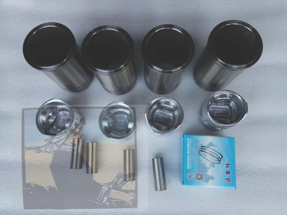 Quanchai QC485 engine parts, the piston group: piston, piston pin, piston rings, liners etc, Part number: 408509000000 cnc machining plunger piston pin part