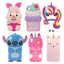 Innovation For Huawei Y6 II Case Cute 3D Cartoon Rabbit Cupcake Stitch Unicorn Soft Silicone Back Cover Y6II 5.5