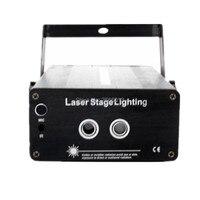 LED Laser Stage Lighting 2 Lens 24 Patterns RG Mini Led Laser Projector Red Green Light