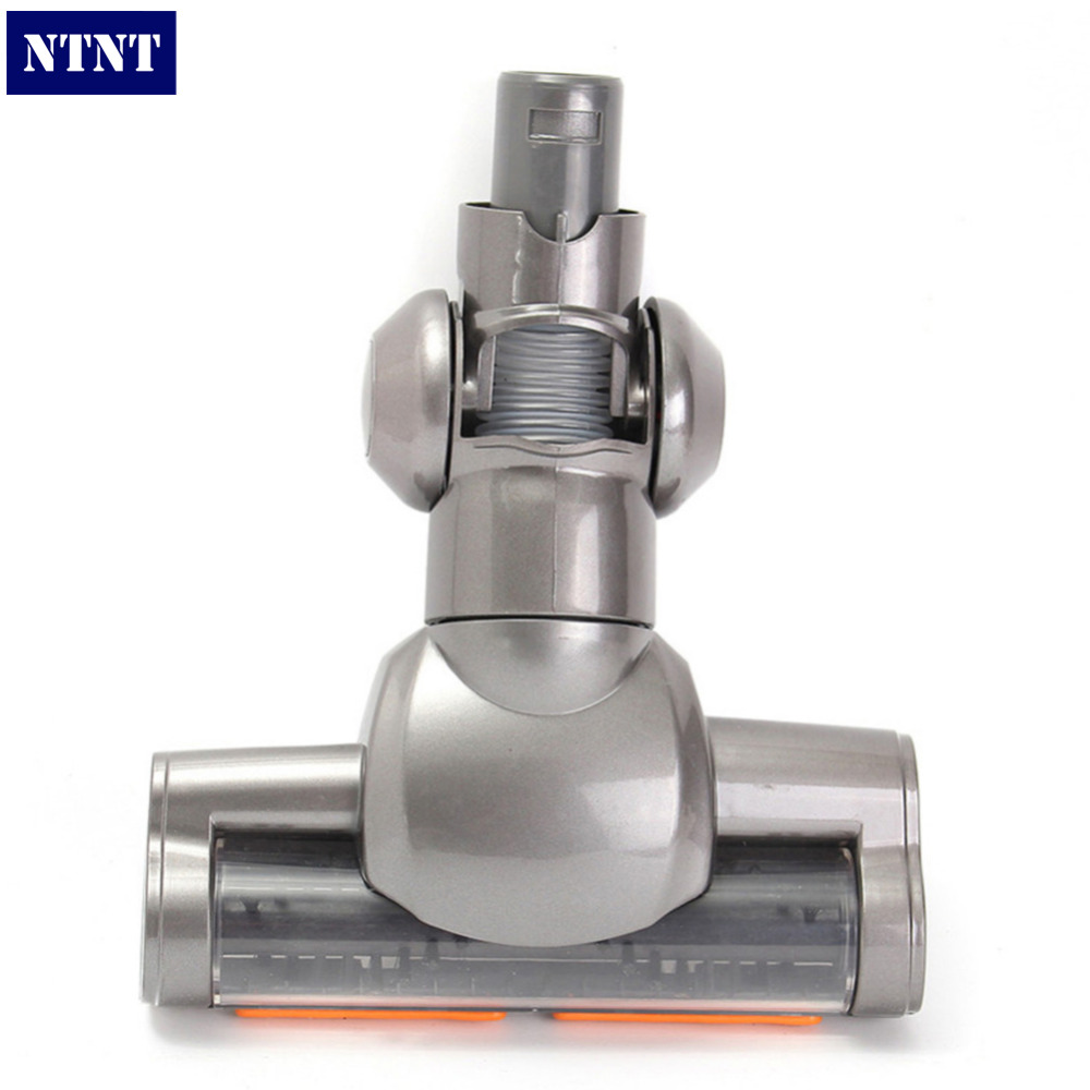 NTNT Vacuum Cleaning Accessories Brush Head Gray Plastic+Metal For Dyson DC35 DC34 DC31 Motorized Floor Tool Vacuum Cleaner Head