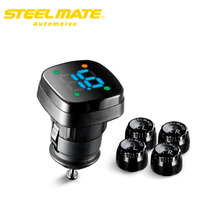 Steelmate 2017 TP-76B Cigarette lighter power Alarm Systems Wireless tire pressure monitor tpms system monitor steel mate
