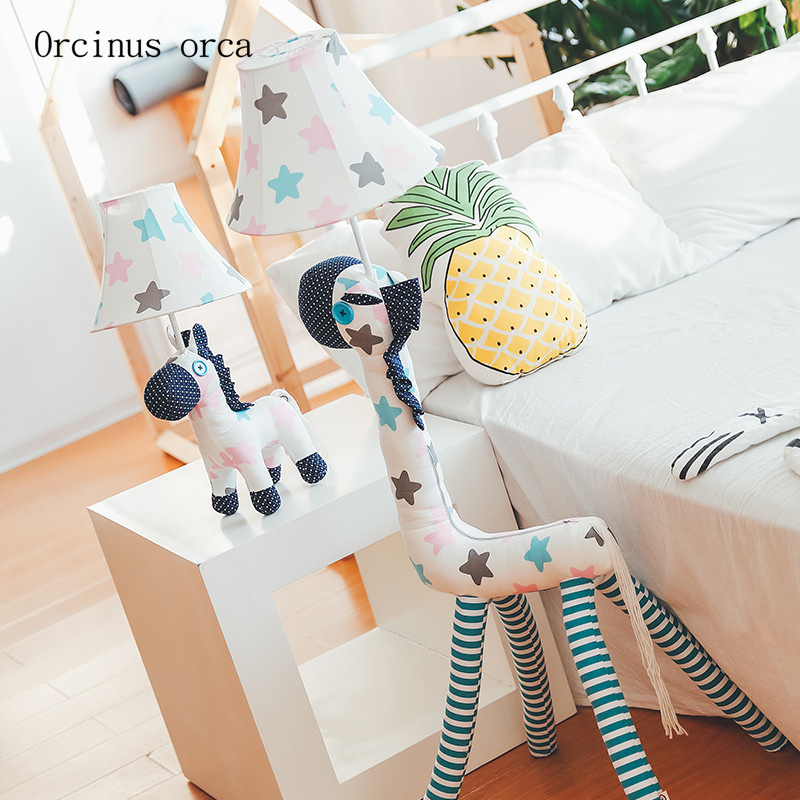 Cartoon animals LED floor lamp living room bedroom bedside lamp modern minimalist creative children's room floor lamp french garden vertical floor lamp modern ceramic crystal lamp hotel room bedroom floor lamps dining lamp simple bedside lights