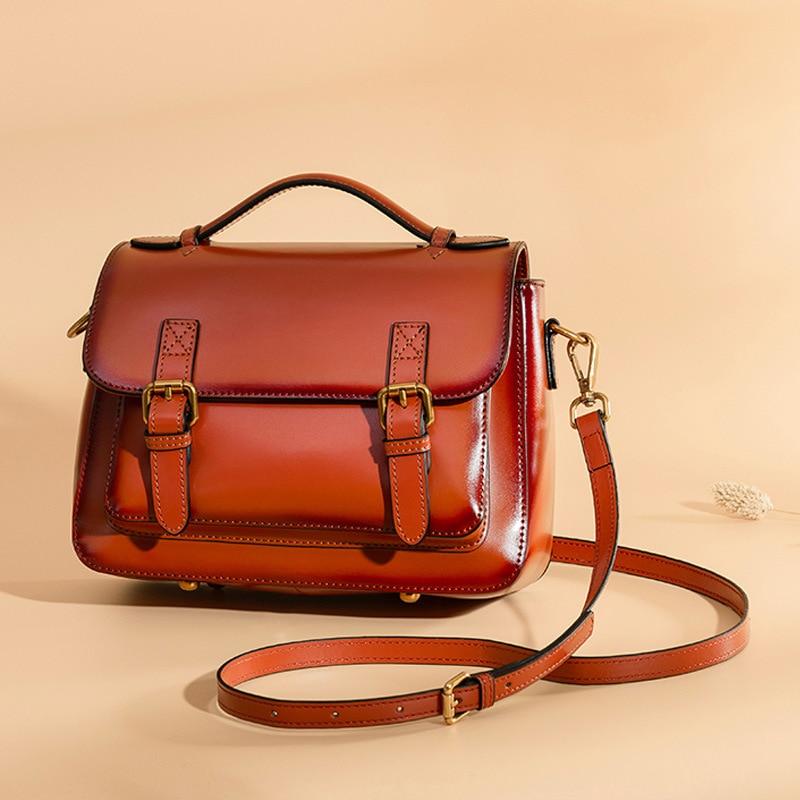 Fashion Vintage Split Leather Women Handbag Brand Designed Women Messenger Bag Small Female Lady Leather Bag Women Crossbody Bag