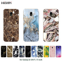 "For Samsung J3 2017 J3(7) Soft Silicone Phone Case Marble Printed Cover For Galaxy J3 2017 J330F SM-J330F DS 5.0"" Case(China)"