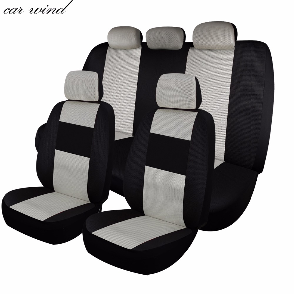 black sport style Car seat covers fit Dacia Duster full set grey