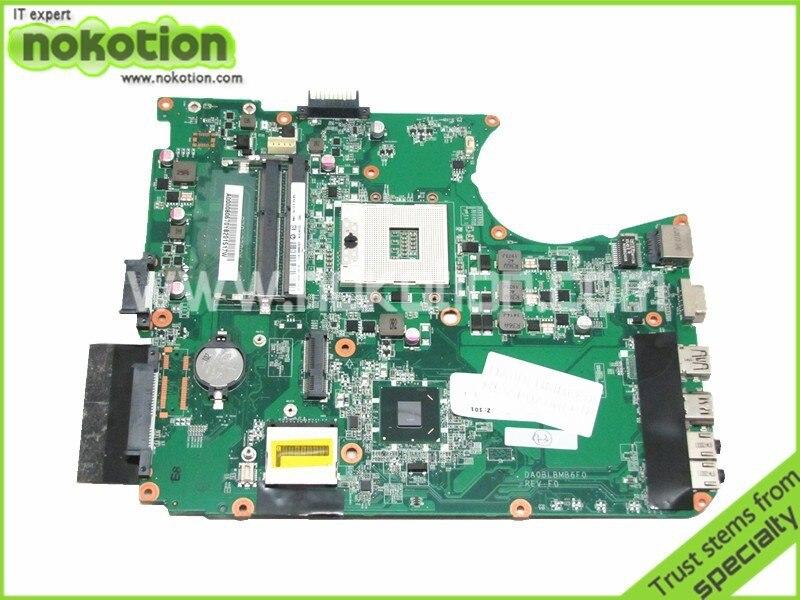 DA0BLBMB6F0 For Toshiba L755 Laptop Motherboard Intel hm65 ddr3 A000080670 REV F0 Mainboard free shipping