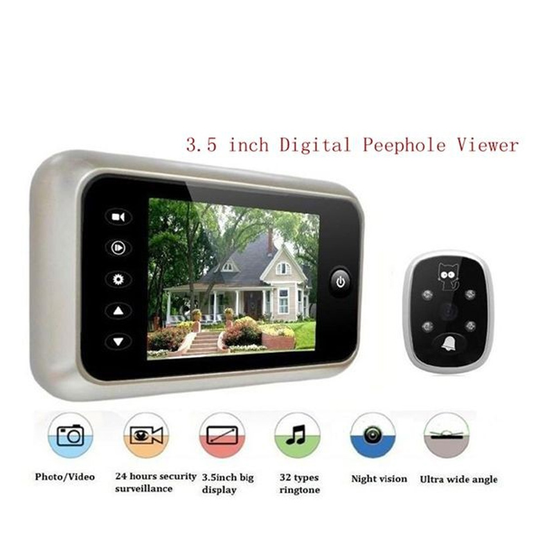 3.5 inch High Definition Digital Peephole Viewer 3X Digital Zoom Door Viewers Camera with IR LED Night Vision Lights with box